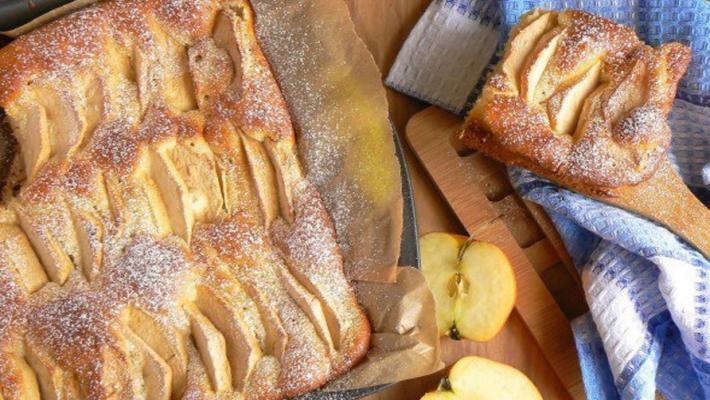 Яблочный пирог на молоке рецепт