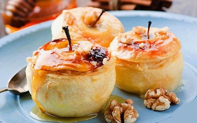 Яблоки запеченные с маскарпоне