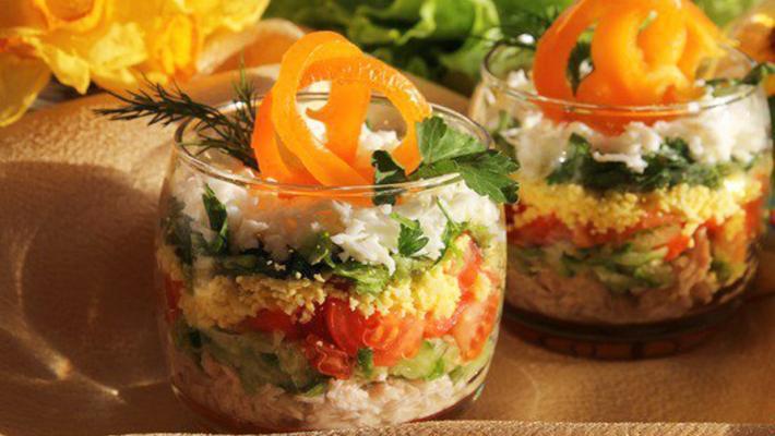 Легкий слоеный салат рецепт