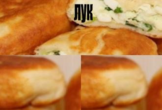 Пирожки вкуснейшие, начинка: яйцо и зеленый лук