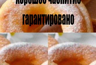 Пончики на кефирной основе за 20 минут. Хорошее чаепитие гарантированно!